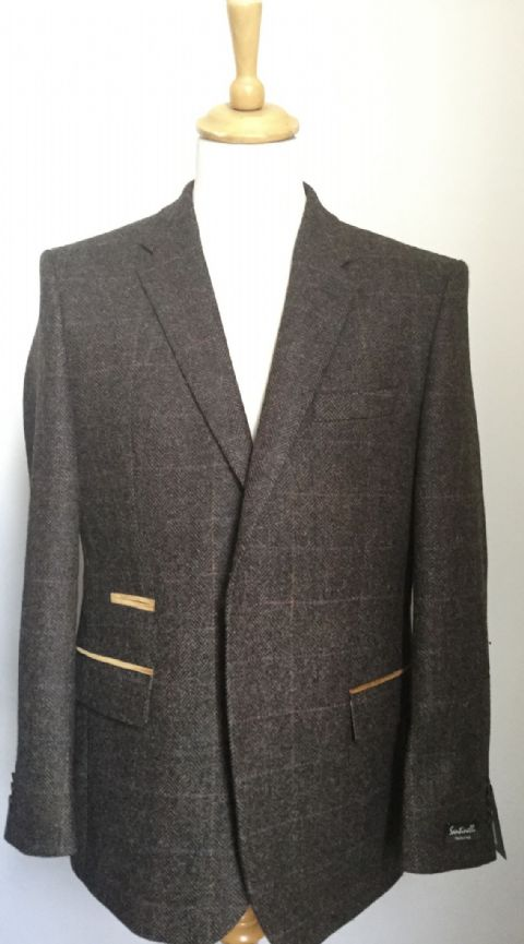 Tweed Jacket by Santenelli - Style Bolan - Cloth Moons S430/8336/14